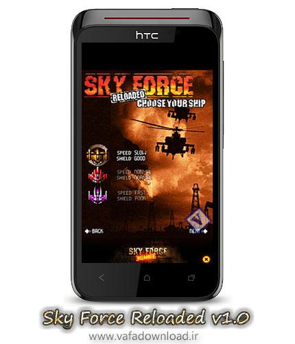دانلود بازی جنگی Sky Force Reloaded v1.0 برای Symbian^3 Anna Belle