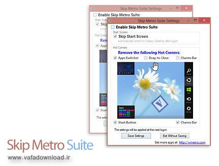دانلود Skip Metro Suite v3.0 x86/x64 - نرم افزار ورود مستقیم به دسکتاپ ویندوز 8