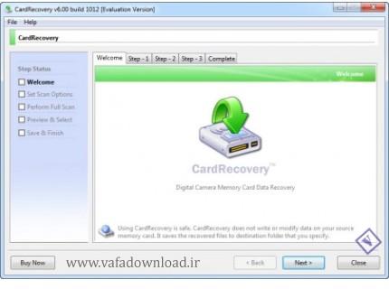 CardRecovery 6.0 Build 1012 (بازیابی اطلاعات از روی کارت های حافظه)